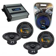 Compatible with Nissan 240SX 1995-1998 Speaker Replacement Harmony (2) R65 & Harmony HA-A400....