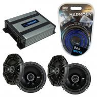 Compatible with Nissan 240SX 1995-1998 Speaker Replacement Kicker (2) DSC65 & Harmony HA-A400...