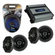 Compatible with Pontiac Vibe 2009-2010 Factory Speaker Replacement Kicker (2) DSC65 & Harmony...
