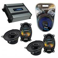 Compatible with Porsche 944 1983-1993 Factory Speaker Replacement Harmony (2) R46 & Harmony H...