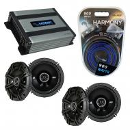 Compatible with Saab 9-3 1999-2006 Factory Speaker Replacement Kicker (2) DSC65 & Harmony HA-...