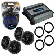 Compatible with Saturn Outlook 2007-2009 Speaker Replacement Kicker (2) DSC65 & Harmony HA-A4...