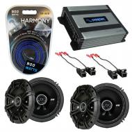 Compatible with Saturn S Series 2000-2002 Speaker Replacement Kicker (2) DSC65 & Harmony HA-A...