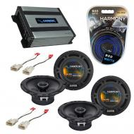 Compatible with Scion xA 2004-2006 Factory Speaker Replacement Harmony (2) R65 & Harmony HA-A...