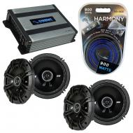 Compatible with Toyota Paseo 1996-1997 Factory Speaker Replacement Kicker (2) DSC65 & Harmony...