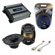 Compatible with Toyota FJ Cruiser 2007-2014 Factory Speaker Replacement Harmony R69 & Harmony...