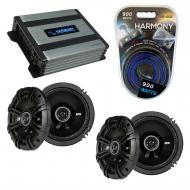 Compatible with Volkswagen Touareg 04-10 Speaker Replacement Kicker (2) DSS65 & Harmony HA-A4...