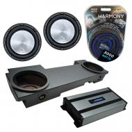 Compatible with 2002-2013 Cadillac Escalade EXT Underseat Harmony A122 Dual 12 Rhino Coated Sub B...
