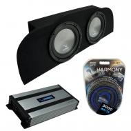 """Compatible with 2003-2015 Infiniti G35 Coupe Harmony A102 Subwoofer Dual 10"""" Sub Box & H..."""