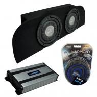 """Compatible with 2003-2015 Infiniti G35 Coupe Harmony F104 Subwoofer Dual 10"""" Sub Box & H..."""