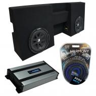 """Compatible with 2005-UP Toyota Tacoma Double Cab Truck Kicker Comp C10 Dual 10"""" Sub Box Encl..."""