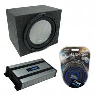 "Universal Car Stereo Rearfire Sealed Single 15"" Harmony A152 Sub Box & Harmony HA-A800.1"