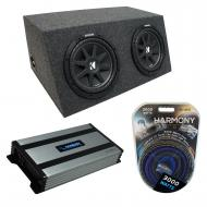"Universal Car Stereo Hatchback Sealed Dual 10"" Kicker Comp C10 Sub Box Enclosure & Harmo..."