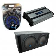 """Universal Car Stereo Slotted S Port Dual 8"""" Alpine Type S S-W8D2 Sub Box Enclosure with Harm..."""