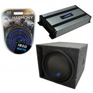 """Universal Car Stereo Slotted S Port Single 12"""" Alpine Type S S-W12D4 Sub Box Enclosure with ..."""