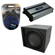 """Universal Car Stereo Slotted S Port Single 8"""" Alpine Type R SWR-8D4 Sub Box Enclosure with H..."""