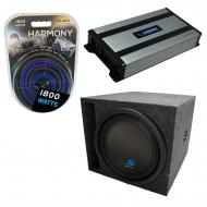 """Universal Car Stereo Slotted S Port Single 8"""" Alpine Type S S-W8D4 Sub Box Enclosure with Ha..."""
