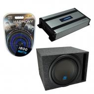 """Universal Car Stereo Vented Port Single 12"""" Alpine Type S S-W12D4 Sub Box Enclosure with Har..."""