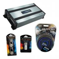 Harmony Audio HA-A800.1 Car Stereo Class D Amp Mono Subwoofer Amplifier Bundle with Harmony Audio...