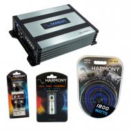 Harmony Audio HA-A400.1 Car Stereo Class D Amp Mono Subwoofer Amplifier Bundle with Harmony Audio...