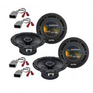 Harmony Audio R65 OEM Factory Replacement Speaker Upgrade Package Compatible with Honda Civic Del...