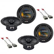 Harmony Audio R65 Factory Speaker Replacement Upgrade Package Compatible with Honda Pilot 2003-2008