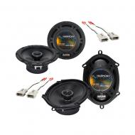 """Harmony Audio Bundle Compatible With 1987-1996 Ford Bronco (Full Size) HA-R65 6.5"""" HA-R68 5x..."""