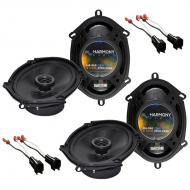 Harmony Audio Compatible With 2001-12 Ford Escape (2) HA-R68 New Factory Speaker Replacement Upgr...
