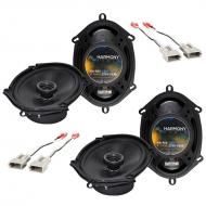 """Harmony Audio Bundle Compatible with 1999-2004 Ford Mustang (2) HA-R68 5x7"""" 6x8"""" New Fa..."""