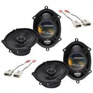 Harmony Audio Compatible With 1997-03 Ford F-150 (2) HA-R68 New Factory Speaker Replacement Upgra...