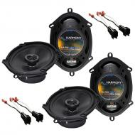 Harmony Audio Compatible With 1999-04 Ford F-250/350/450/550/650/750 (2) HA-R68 OEM Speaker Upgra...