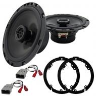Harmony Master Bundle Compatible with 2006-2011 Honda Civic HA-R65 Replacement 300W Speakers with...