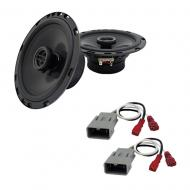 Harmony Audio Bundle Compatible with 2006-2011 Honda Civic HA-R65 Replacement 300W Speakers with ...
