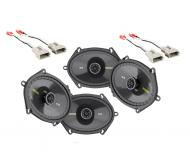 Ford F250/F350 Extended Cab 97-99 Truck Kicker Factory 5x7 6x8 Coaxial Speaker Replacement (2) CS...
