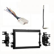 Mercury Sable 2008 2009 Double DIN Stereo Harness Radio Install Dash Kit Package