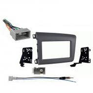 Honda Civic 2012 Double DIN Aftermarket Stereo Harness Radio Install Dash Kit