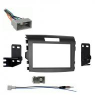 Honda CRV 2012 2013 2014 Double DIN Aftermarket Stereo Harness Radio Install Dash Kit