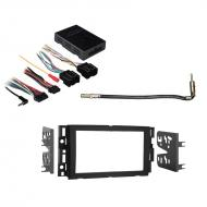 Hummer H2 2008 2009 Double DIN Aftermarket Stereo Harness Radio Install Dash Kit