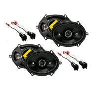 Kicker Bundle Compatible with 2005-2012 Ford F-250/350/450/550 (2) 43DSC6804 New Factory Speaker ...
