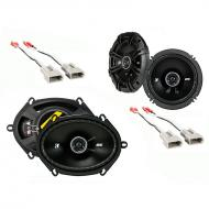 Kicker Bundle Compatible with 1987-1996 Ford Bronco (Full Size) 43DSC6504 43DSC6804 New Factory S...