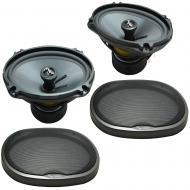 Compatible with Mini Cooper 2002-2006 Rear Side Panel Replacement Harmony HA-C69 Premium Speakers