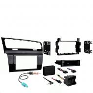Volkswagen Golf Series 2015 Single or Double DIN Stereo Radio Install Dash Kit