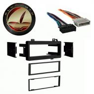Eagle Vision 1993 1994 1995 1996 1997 Single DIN Stereo Harness Radio Install Dash Kit Package