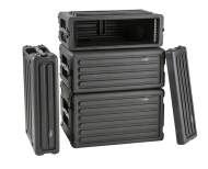 SKB Cases 1SKB-R2S Shallow 2U Roto Rack with Steel Rails Front/Back 10.5-Inch Deep (1SKBR2S)
