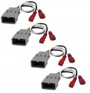 Compatible with Honda Accord 1982-1985 Factory Speaker Replacement Connector Harness Package Kit