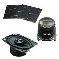 """Harmony Audio HA-C46 Car Stereo Carbon Series 4x6"""" Replacement 150W Speakers Bundle with Har..."""