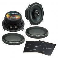 "Harmony Audio HA-C5 Car Stereo Carbon 5.25"" Replacement 250W Speakers & Grills Bundle wi..."