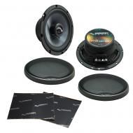 """Harmony Audio HA-C65 Car Stereo Carbon 6.5"""" Replacement 350W Speakers & Grills Bundle wi..."""