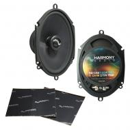 "Harmony Audio HA-C68 Car Stereo Carbon 5x7"" 5x7"" Replacement 275W Speakers Bundle with ..."