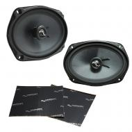 "Harmony Audio HA-C69 Car Stereo Carbon 6x9"" Replacement 500W Speakers & Grills Bundle wi..."